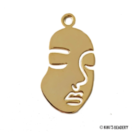 Gold plated pretty face hanger