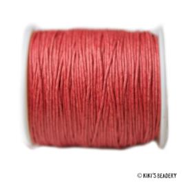 1 meter rood waxkoord 1mm