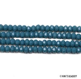 50 stuks Facet Glaskralen 3x2mm blauw