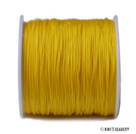 1 meter citroen geel macrame nylon koord 0.8mm