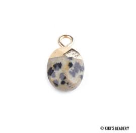 Dalmatiër jaspis facet ovalen bedel