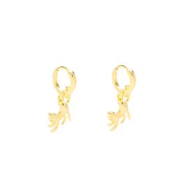 Aapjes oorbellen goud