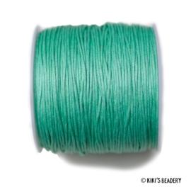 1 meter Waxkoord turquoise 1mm