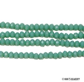 50 stuks Facet Glaskraal 3,5x3 Turquoise
