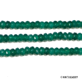 10 stuks facet gemstone kralen 4x3mm Groen