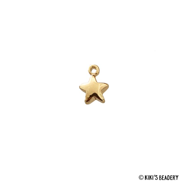 18K Gold plated gouden sterretje bol