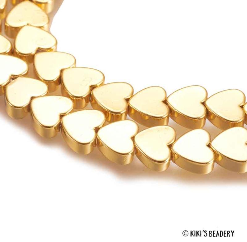 Gouden hartjes kralen