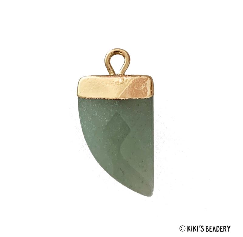 Tand Hanger Halfedelsteen Jade