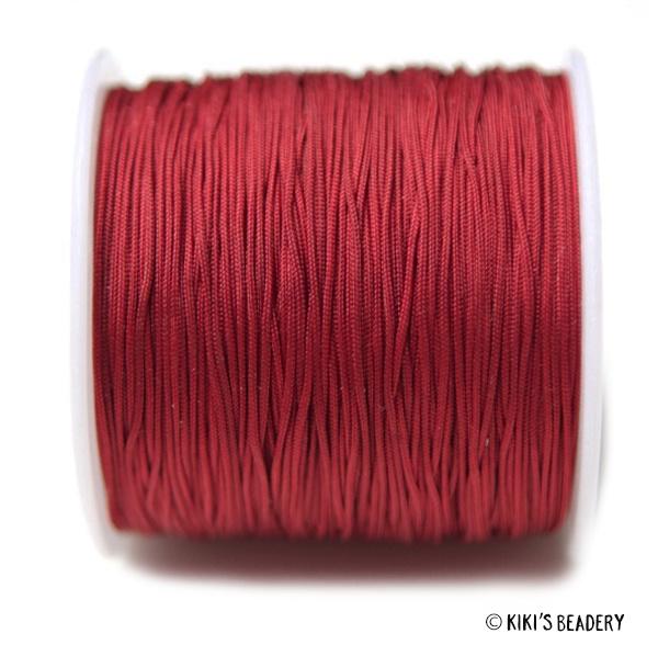 1 meter rood macrame nylon koord 0.8mm