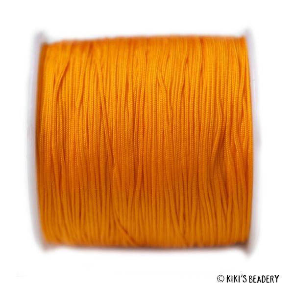1 meter sinaasappel macrame nylon koord 0.8mm