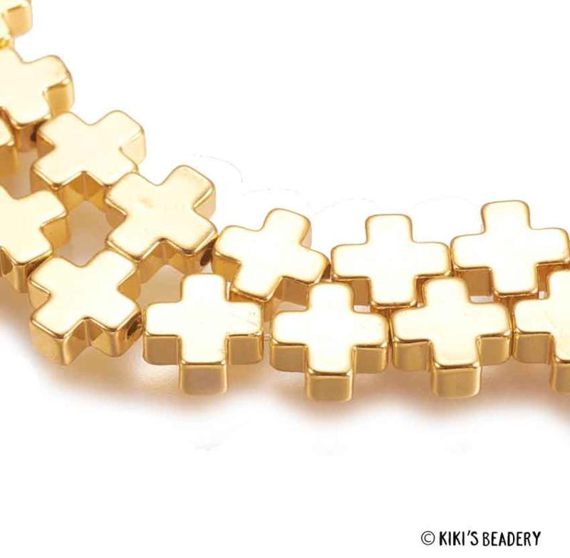 Gouden plusjes kralen
