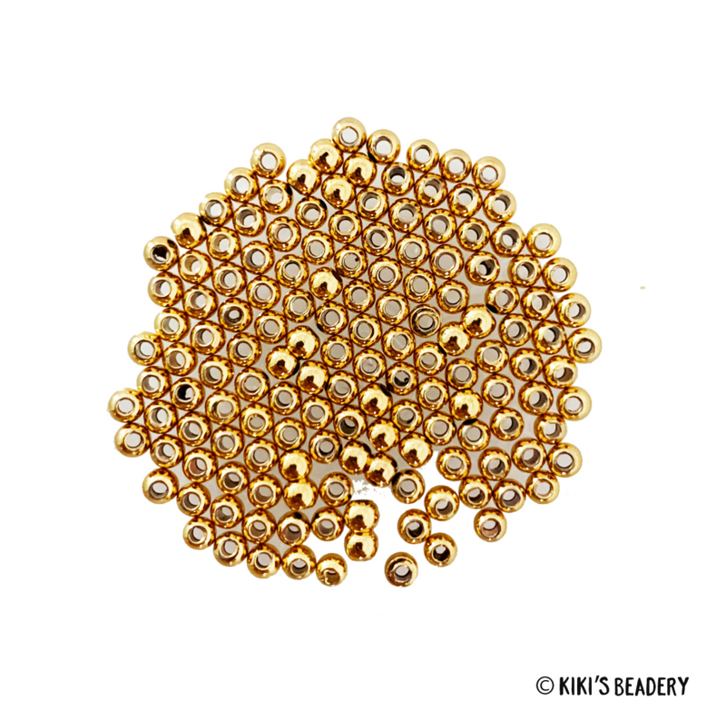 Gold Plated gouden bead spacers 3.2mm 10 stuks