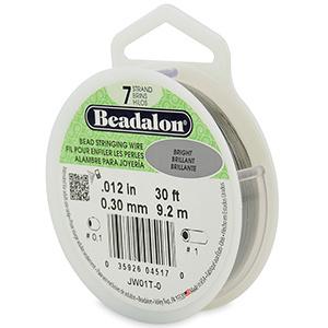 Beadalon Rijgdraad 7 draads 0.30mm Stainless Steel