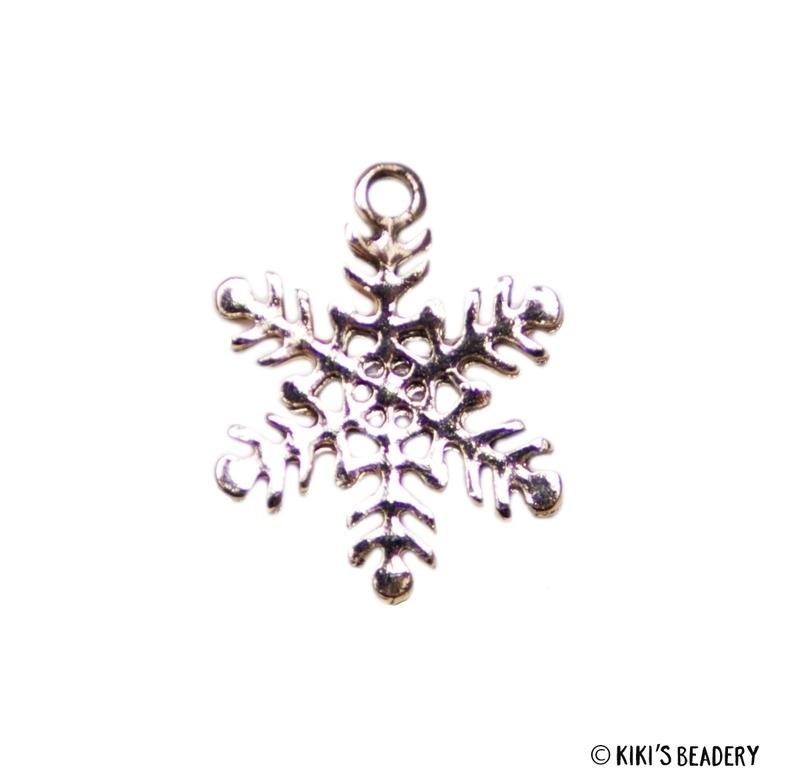 Sneeuwvlok bedel  21x16,5mm Rose goud