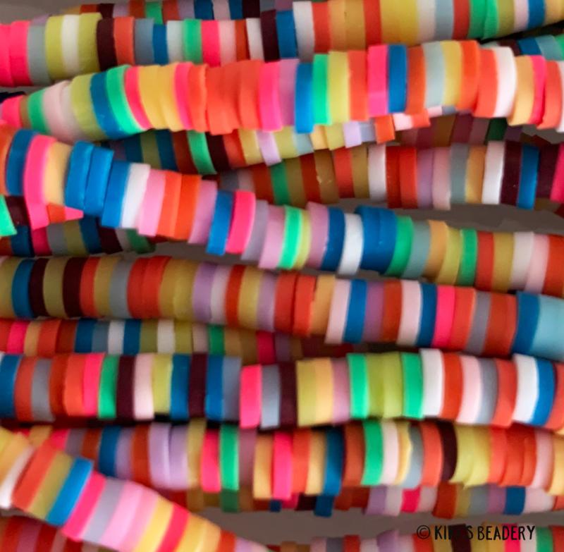 Katsuki kralen Kleurenmix 4mm ca. 400 stuks (per streng)