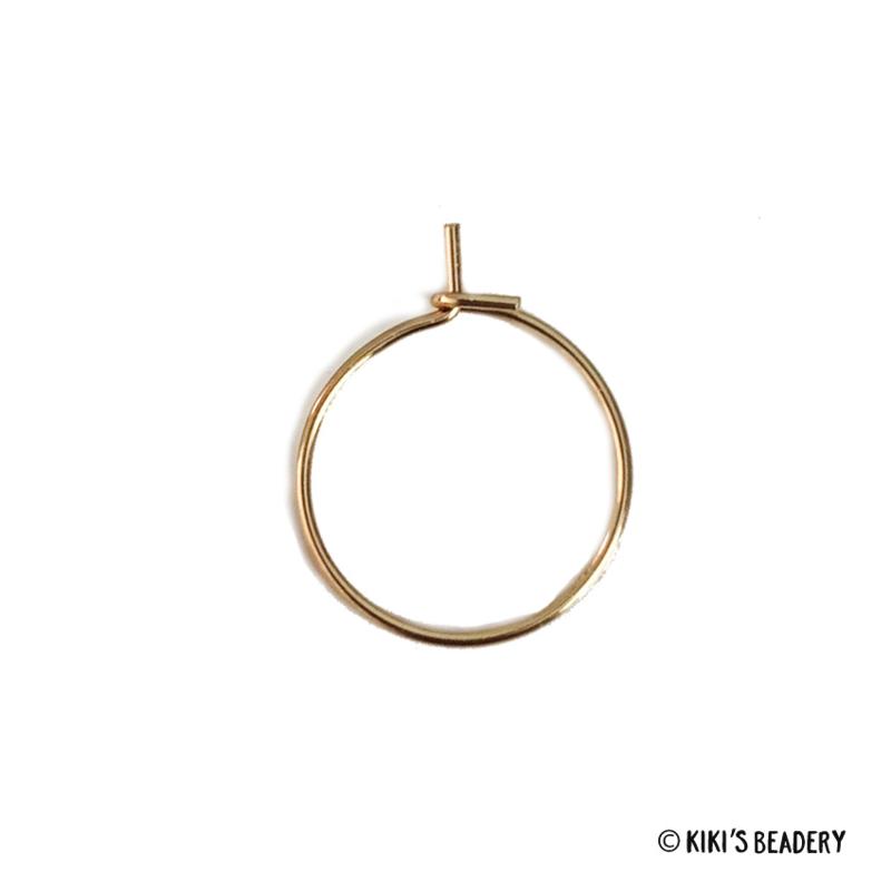 Stainless steel hoops oorringen 15mm 2 stuks