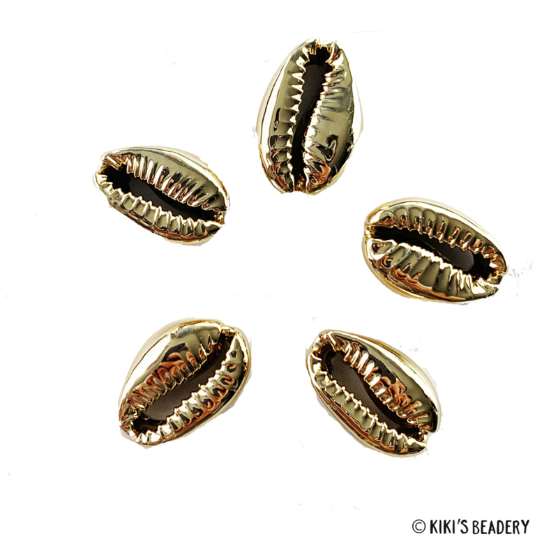 5 st. Kauri champagne goud connectors