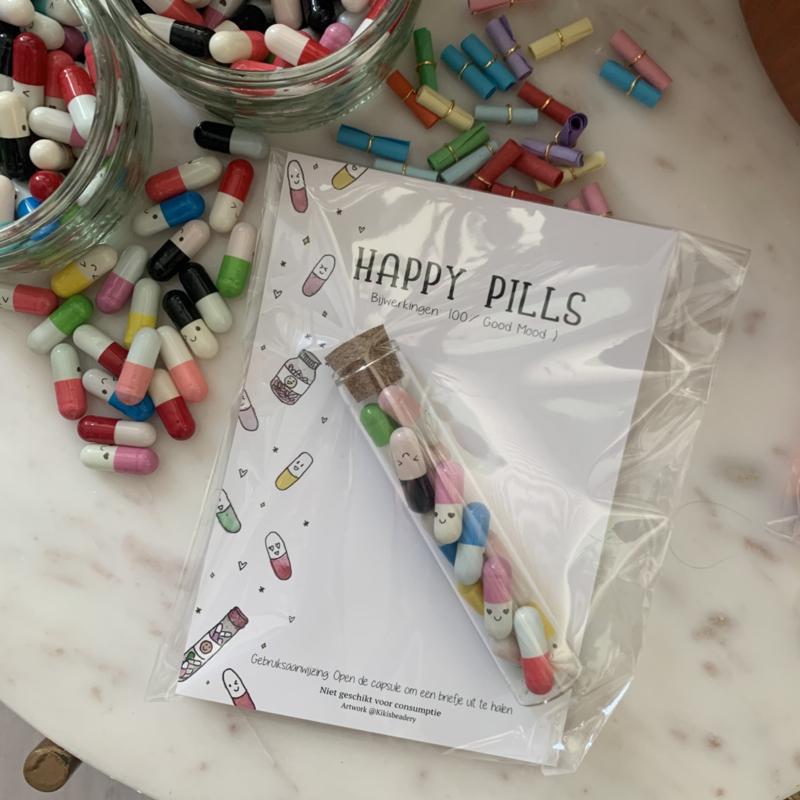 100% good mood ansichtkaart met happy pills