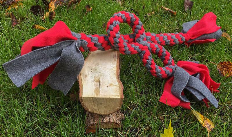 Handgemaakt speelgoed van fleece (allerlei vormen)
