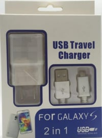 Lader met USB Micro kabel Wit