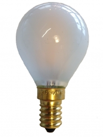 Filament Led Kogel 2w/25w E14 Mat extra warm licht (NIET DIMBAAR)