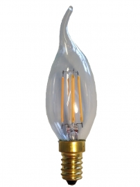 Filament Led Tip Kaars 1w/15w E14 Helder extra warm licht (NIET DIMBAAR)