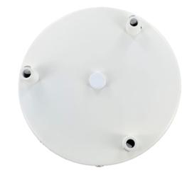 Plafondkap rond met beugel 15 cm poeder wit
