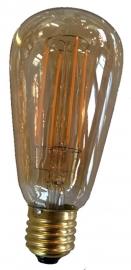 Filament Led Edison E27 Goud extra warm licht (NIET DIMBAAR)