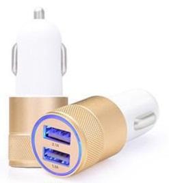 USB autolader 2.1 A Goud