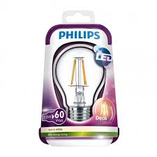 Philips Blister Filament Led standaard Helder 7,5w/60w