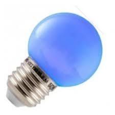 Led kogel 1w/15w  E27 blauw