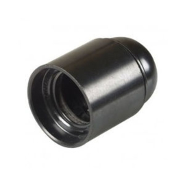 Fitting E27 kunststof glad zwart