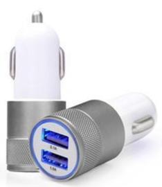 USB autolader 2.1 A Grijs