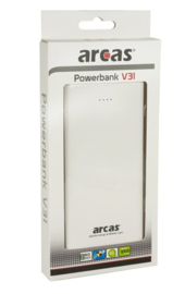 ARCAS Mobile Powerbank V31 Wit