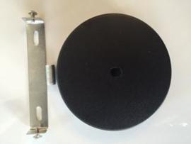 Plafondkap rond met beugel mat zwart