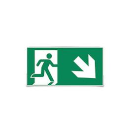 Sticker E man trap af rechts