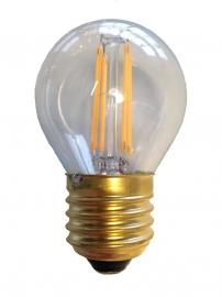 Filament Led kogel 1w/15w E27 Helder extra warm licht (NIET DIMBAAR)