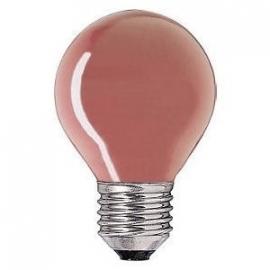 Kogellamp  15 watt E27 rood