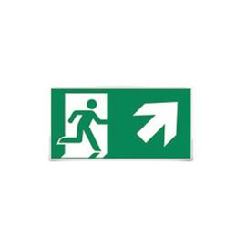 Sticker F man trap op rechts