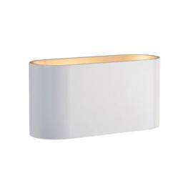 Squalla Oval G9 wandlamp wit