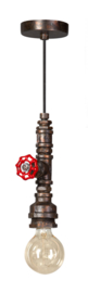 Fire Hose hanglamp bruin/koper