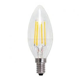 Filament Led Kaars 1w/15w E14 Helder extra warm licht (NIET DIMBAAR)