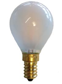 Filament Led kogel 1w/10w E14 Mat (NIET DIMBAAR)