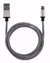 USB Lightning kabel Wit/Zwart 1 mtr