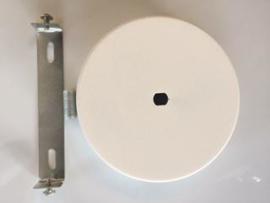 Plafondkap rond met beugel mat wit