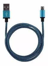 USB C kabel 1mtr Blauw/Zwart
