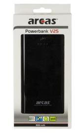 ARCAS Mobile Powerbank V25 Zwart