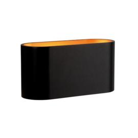 Squalla Oval G9 wandlamp zwart