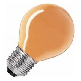 Kogellamp  15 watt E27 oranje