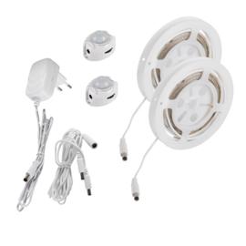 LED-set Bedverlichting met bewegingsmelder dubbel